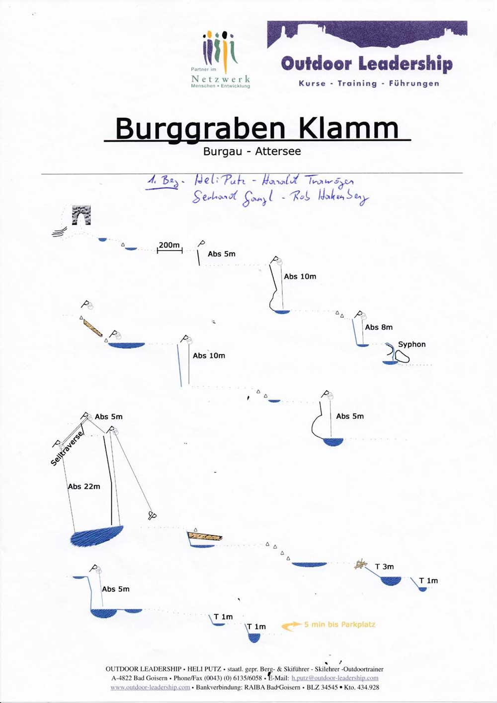 Attersee - Canyoning - Burggraben