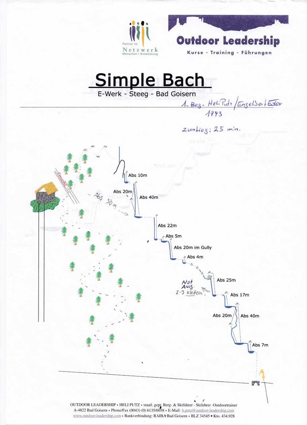 Bad Goisern - Canyoning - Simple Bach